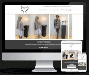 Responsivt webshop design. Optimal visning på alle skærmstørrelser. renesejling.dk i Viborg.