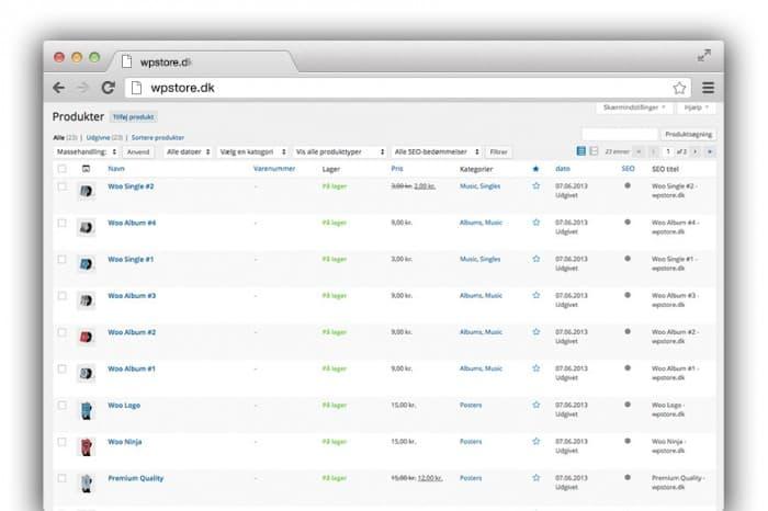 Brugervenlig webshop løsning Viborg. Godt produktoverblik med Woocommerce webshop. ReneSejling.dk