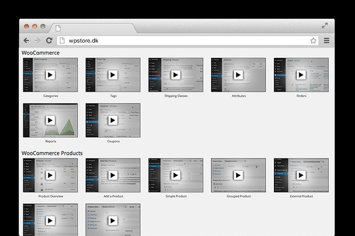 Viser supportvideoer til WordPress webshop design v. René Sejling, Viborg.