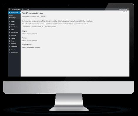 Hjælp til WordPress webdesign. Webløsninger m. support. WordPress udvikling v erfaren webdesigner