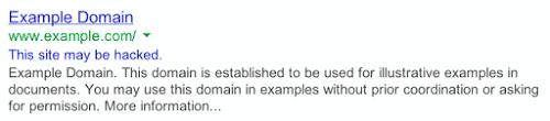 Få styr på din WordPress sikkerhed. Google viser advarsel, når website er hacket. Renesejling.dk