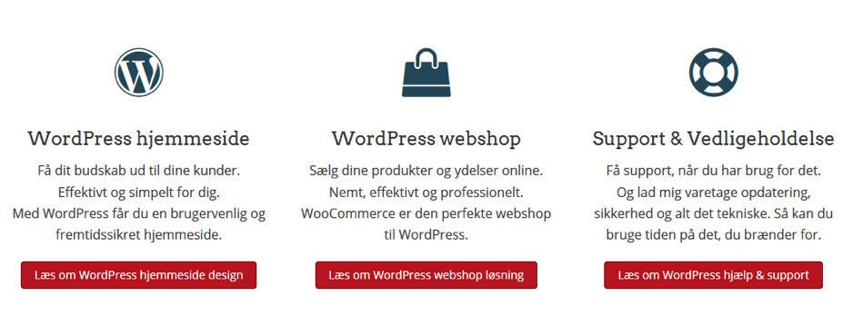 Beaver Builder WordPress page builder plugin laver nemt 3 kolonner som vist her. ReneSejling.dk