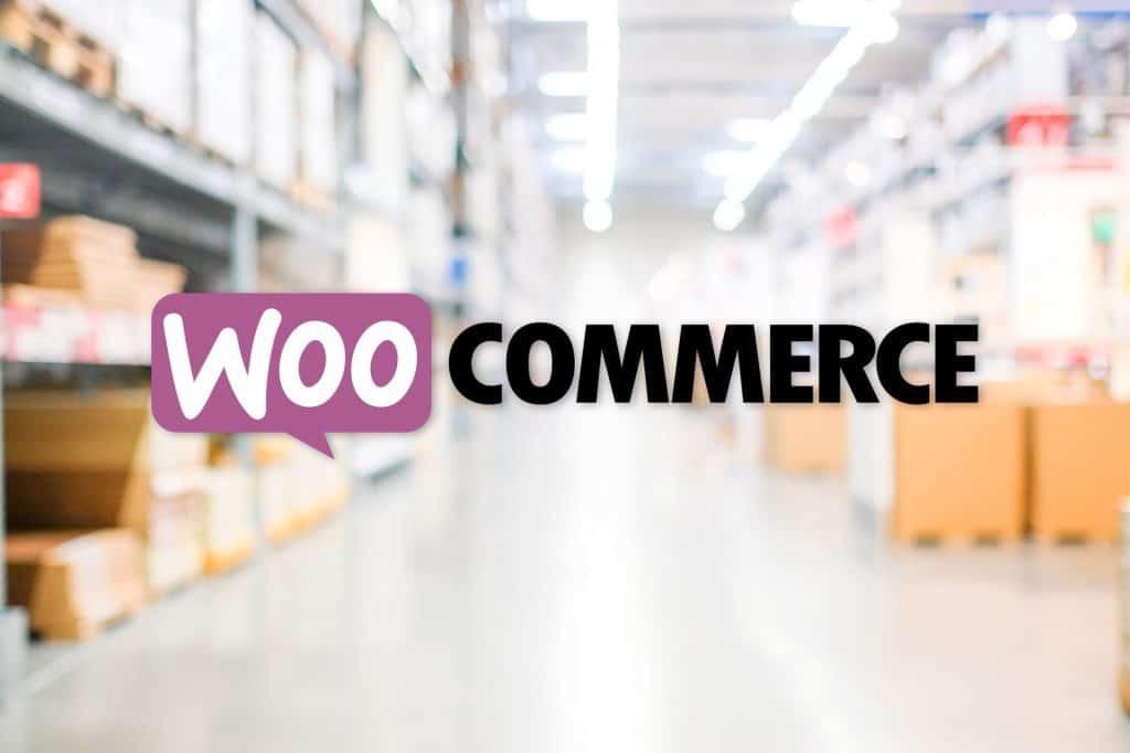WooCommerce-logo m. lagerhal bagved. Styrk dit salg med en WooCommerce webshop. renesejling.dk